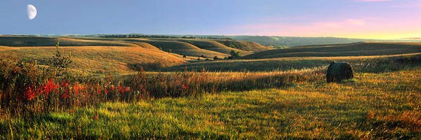 Red Green Photograph - Flint Hills Shadow Dance by Rod Seel