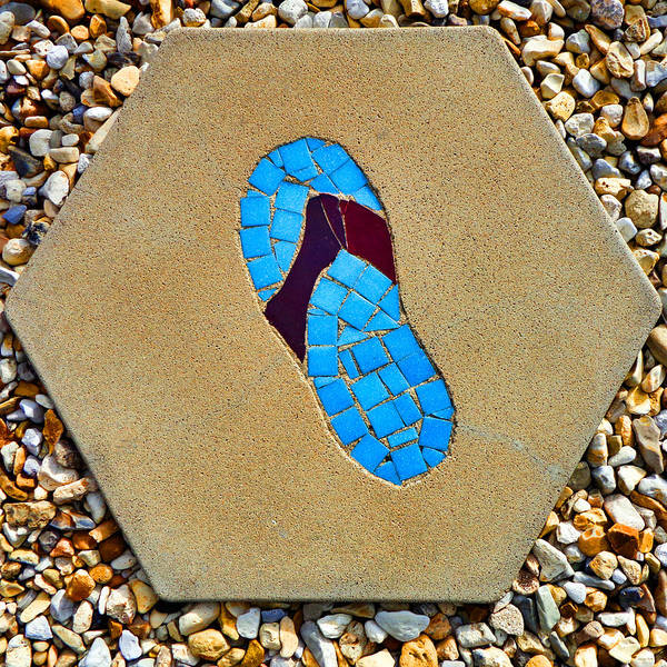 Photograph - Square Flip Flop Stepping Stone One by Kathy K McClellan