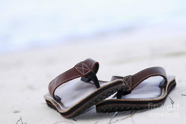 Flip Flops Photograph - Flip-flops On Beach by Elena Elisseeva