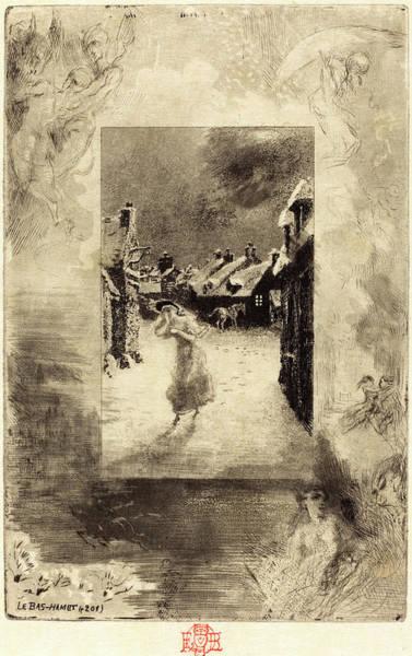 Dust Drawing - Félix-hilaire Buhot, French 1847-1898, Le Bas-hamet by Litz Collection