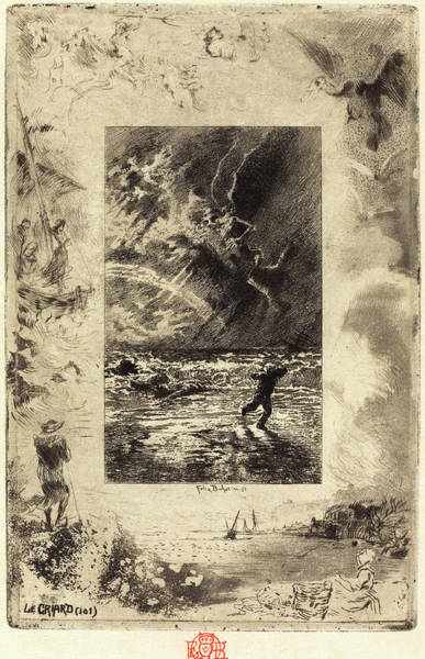Dust Drawing - Félix-hilaire Buhot French, 1847 - 1898, Le Criard by Quint Lox
