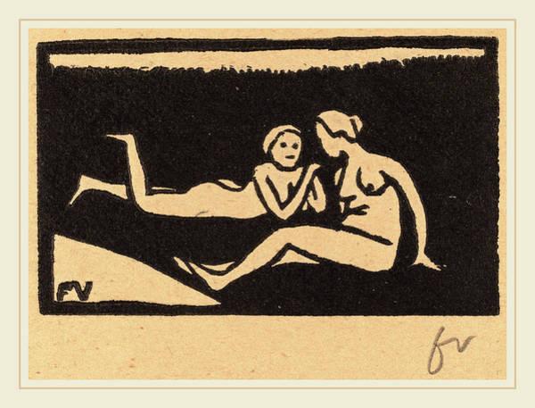 Bather Drawing - Félix Vallotton, Bathers On The Grass Baigneuses étendues by Litz Collection