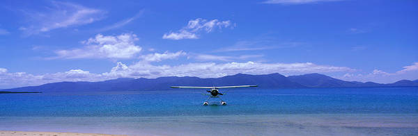Sea Plane Photograph - Float Plane Hope Island Great Barrier by Panoramic Images