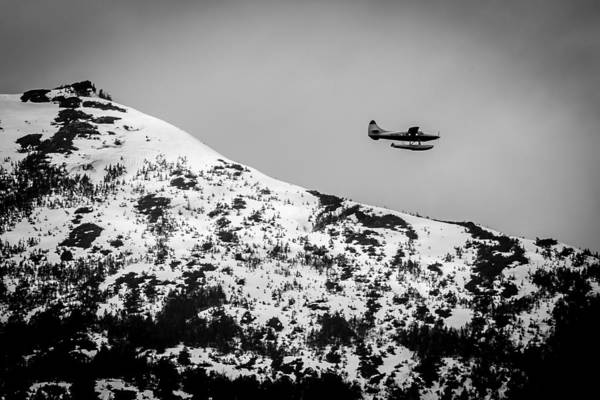 Photograph - Float Plane Over The Mountain by Melinda Ledsome