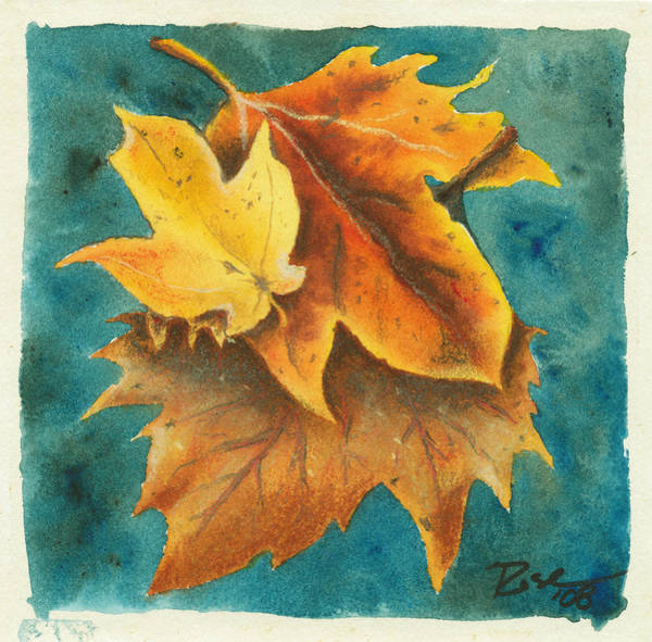 Wall Art - Painting - Floating Autumn Study by Rosemary Craig