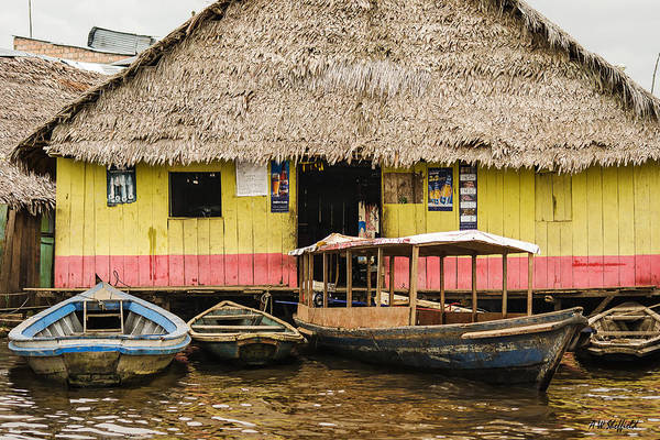Photograph - Floating Bar In Shanty Town by Allen Sheffield