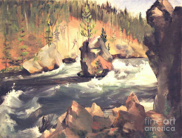 Floating Boulder Art Print