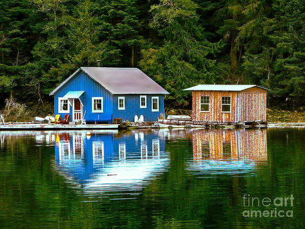 Wall Art - Photograph - Floating Cabin by Robert Bales