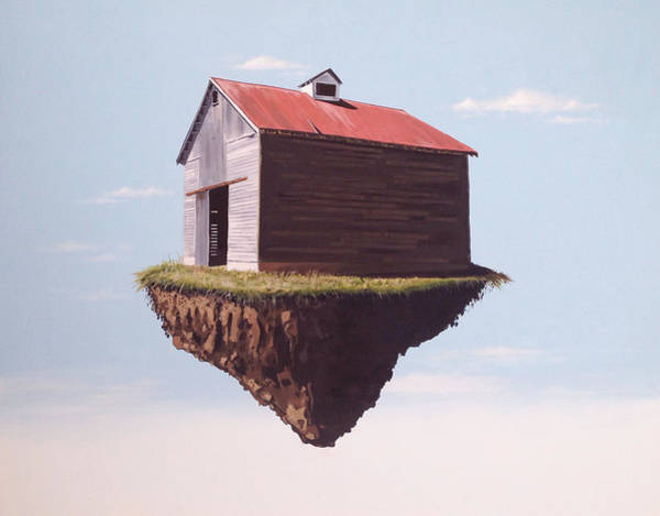 Floating Painting - Floating Corn Crib by Jeffrey Bess