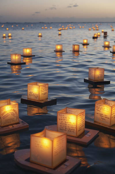 Wall Art - Photograph - Floating Lanterns At Sunset by Brandon Tabiolo