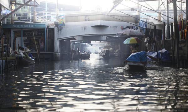 Sunshade Photograph - Floating Market Bangkok by Niels Busch