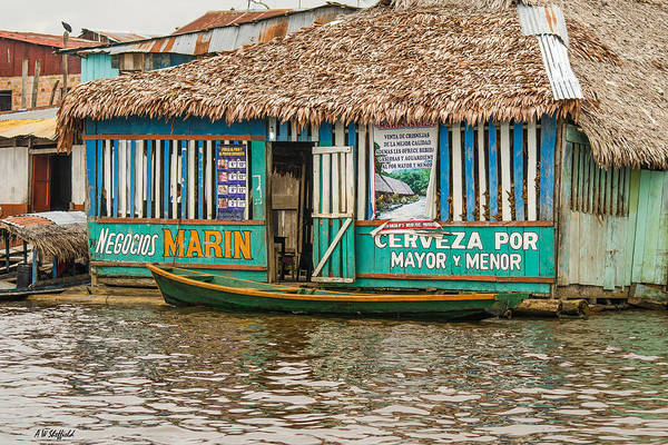 Photograph - Floating Pub In Shanty Town by Allen Sheffield