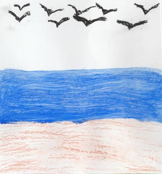 Guache Painting - Flocked by Shana'e Le-Poet