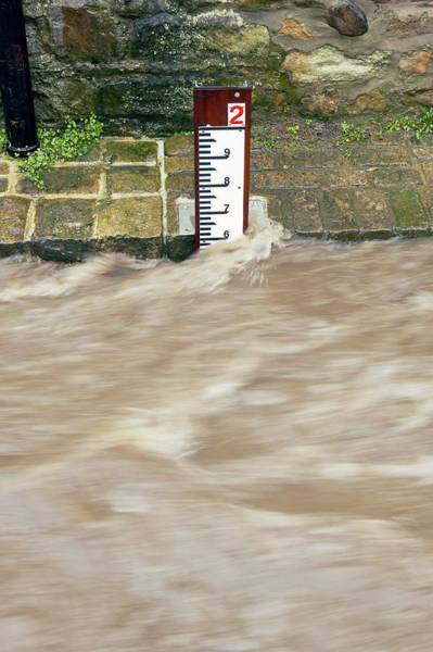 Storm Drain Photograph - Flood Alleviation Scheme by Colin Cuthbert/science Photo Library
