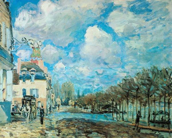 Neighborhood Painting - Flood At Port-marly by Alfred Sisley