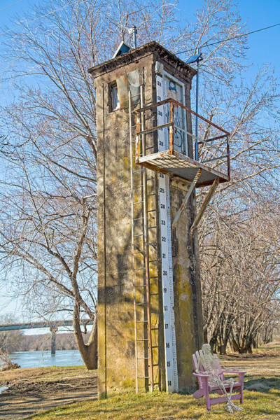 Gauge Photograph - Flood Stage Gauge Scottsville Virginia by Betsy Knapp