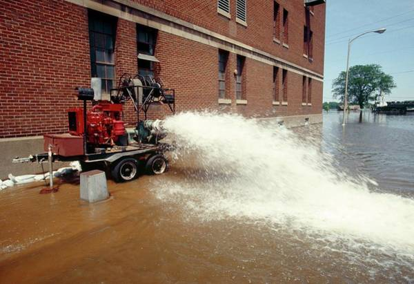 Street Machine Photograph - Flooded Factory by David Hay Jones/science Photo Library