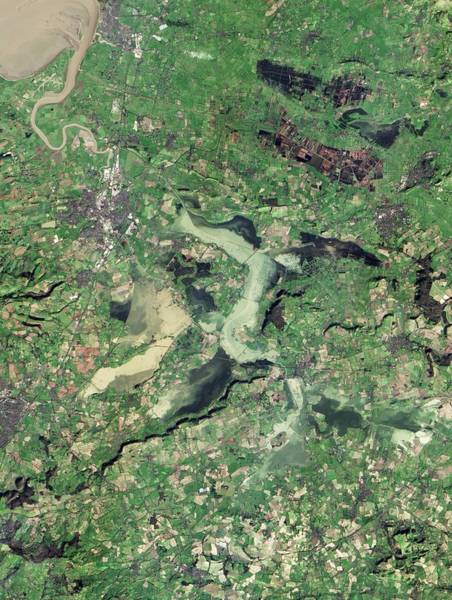 2010s Wall Art - Photograph - Flooded Somerset Levels by Nasa