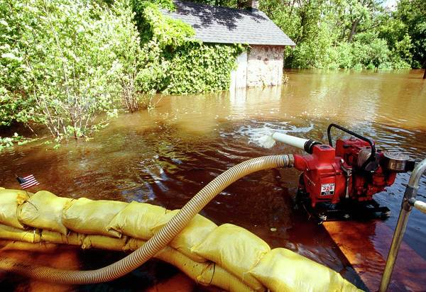 Pump Photograph - Flooding Control by David Hay Jones/science Photo Library