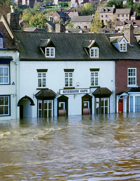 Rising Water Photograph - Flooding by Martin Bond/science Photo Library