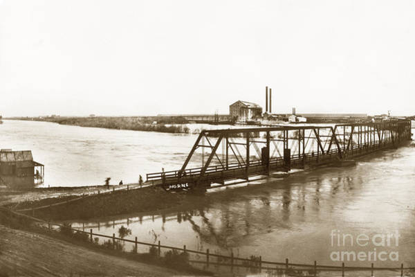 Photograph - Flooding Of Salinas Rive At The Spreckels Sugar Factory At Salinas 1911 by California Views Archives Mr Pat Hathaway Archives