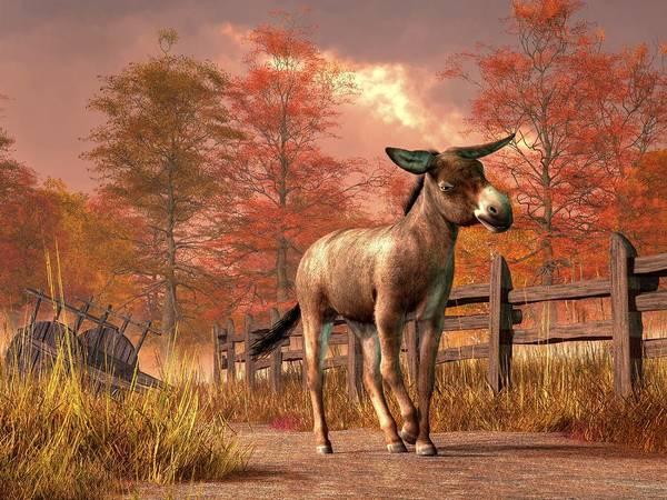 Digital Art - Flop Eared Donkey by Daniel Eskridge