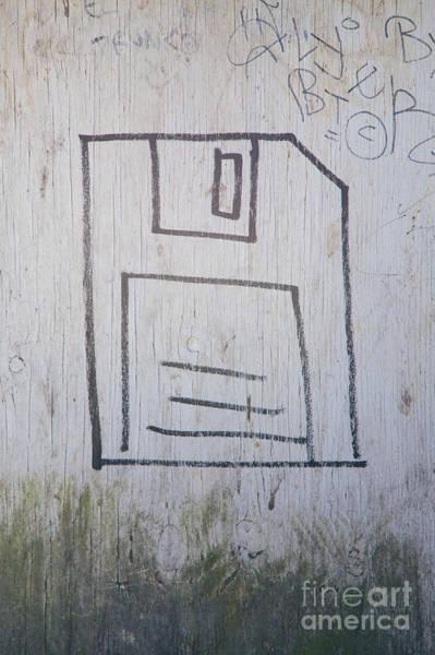 Floppy Disk Photograph - Floppy Disk Graffiti by Jannis Werner