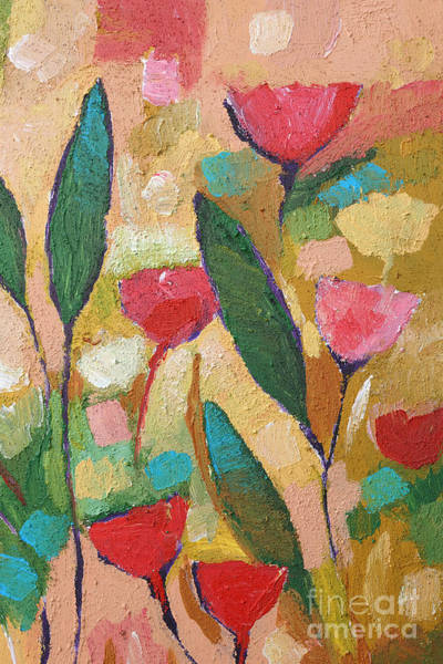 Abstraction Painting - Flora Abstraction by Lutz Baar