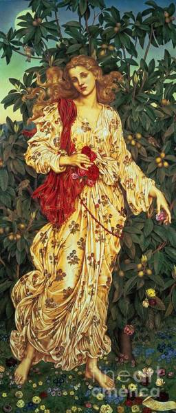 Painting - Flora by Evelyn De Morgan