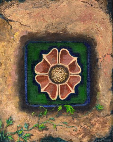 Wall Art - Painting - Flora Set In Stone by Janne Henn
