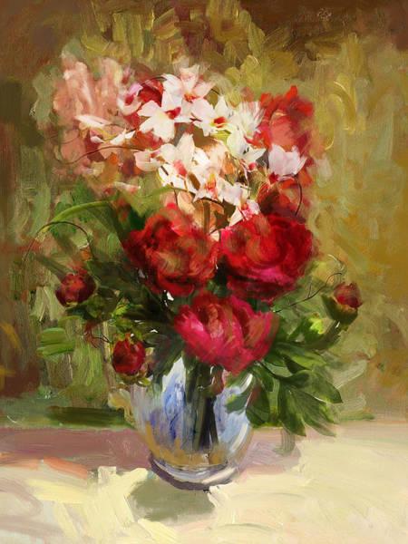 Vase Of Flowers Painting - Floral 9 by Mahnoor Shah