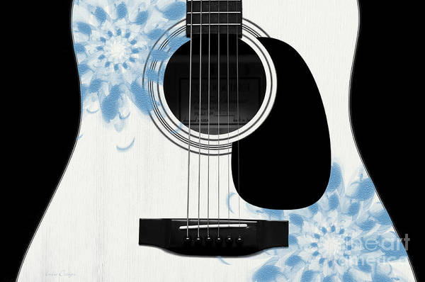 Digital Art - Floral Abstract Guitar 25 by Andee Design