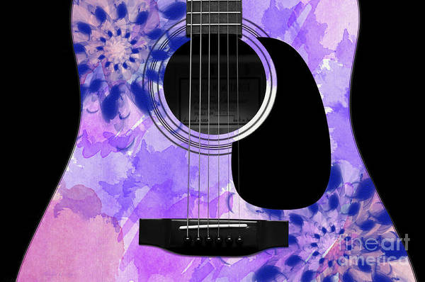 Digital Art - Floral Abstract Guitar 27 by Andee Design