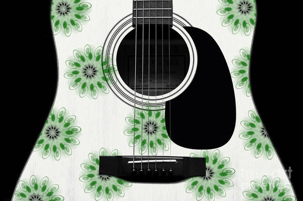 Digital Art - Floral Abstract Guitar 5 by Andee Design