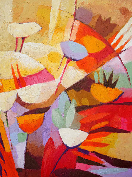 Abstraction Painting - Floral Abstraction by Lutz Baar