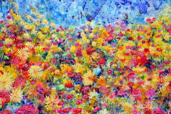 Painting - Floral Fireworks by Regina Valluzzi