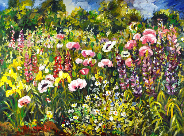 Painting - Floral Garden I by Ingrid Dohm