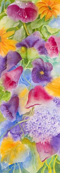 Wall Art - Painting - Floral Glory Dos by Rhonda Leonard