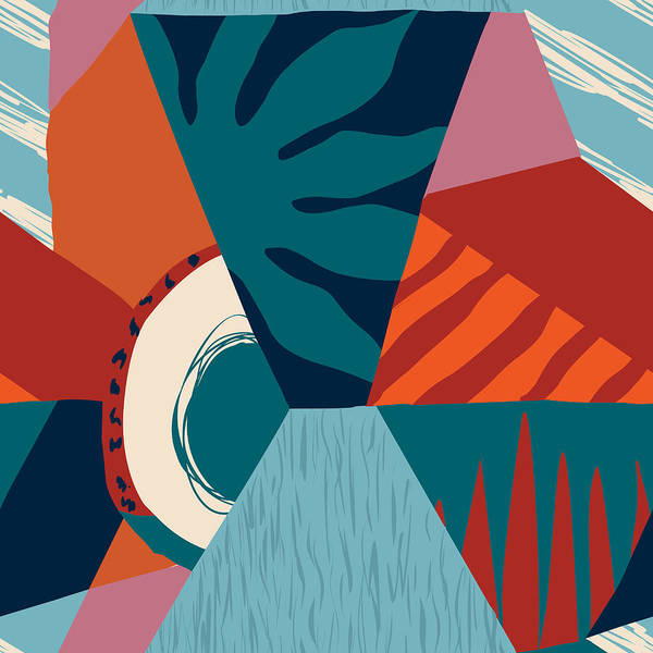 Digital Art - Floral Hawaiian Contemporary Seamless by Tasiania
