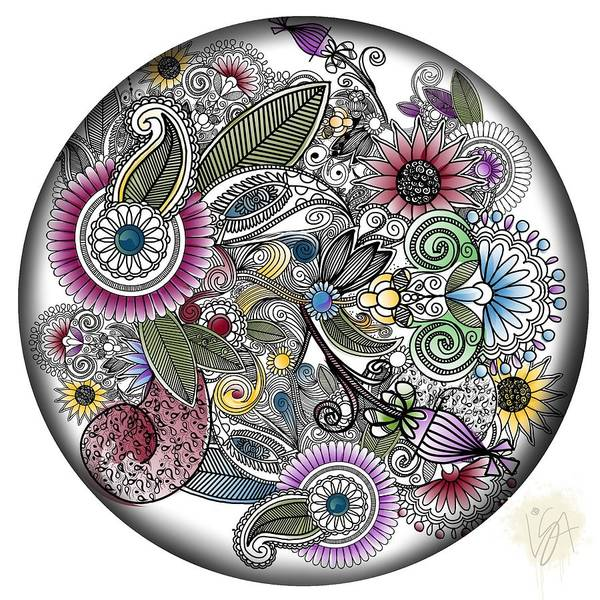 Digital Art - Floral Menagerie by Lisa Schwaberow
