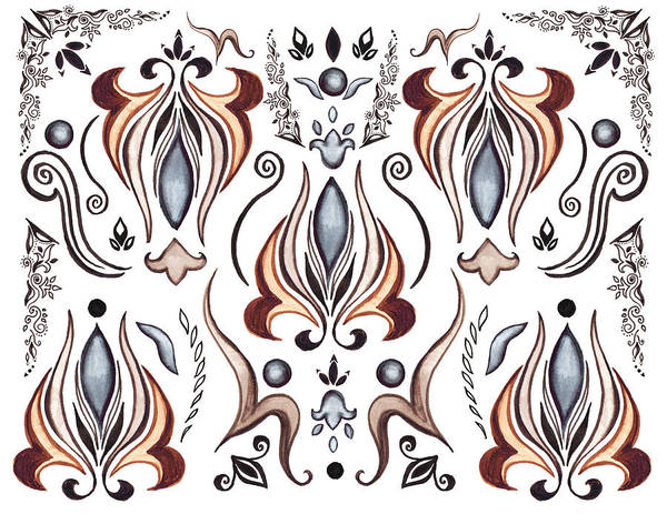 Painting - Floral Pattern I by Irina Sztukowski
