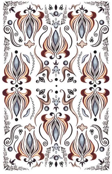 Painting - Floral Pattern IIi by Irina Sztukowski
