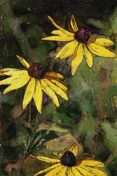 Wall Art - Digital Art - Floral Sketch 022614 by David Lane