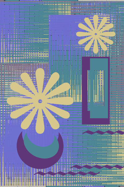 Wall Art - Digital Art - Floral Still Life In Purple by Ben and Raisa Gertsberg
