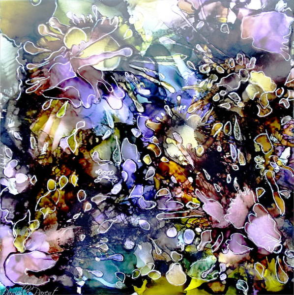 Photograph - Floral Summer Celebration Alcohol Inks by Danielle  Parent
