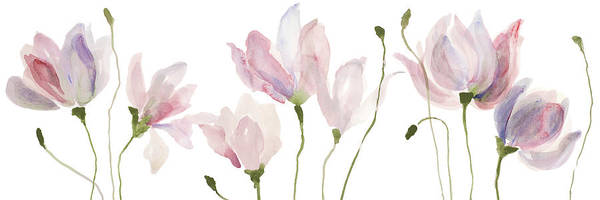 Wall Art - Painting - Floral Sway Panel I by Lanie Loreth