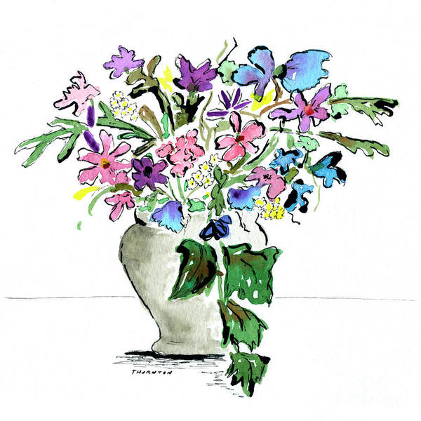 Painting - Floral Vase by Diane Thornton