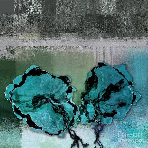 Turquoise Digital Art - Floralart - 0302bc09 by Variance Collections