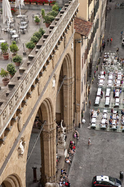 Photograph - Florence And Piazza Della Signoria by Melany Sarafis