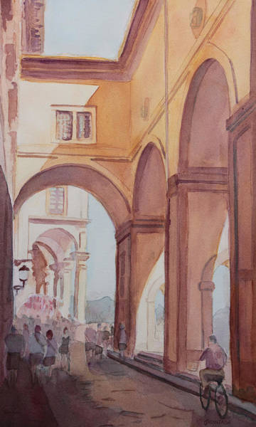 Florence Painting - Florence Arcade by Jenny Armitage
